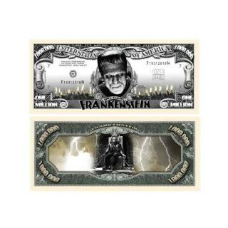 Frankenstein Million Dollar Bill With Bill Protector: Toys & Games