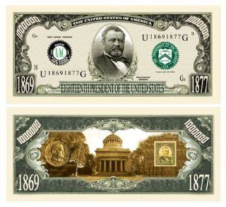 SET OF 5 BILLS ULYSSES S. GRANT MILLION DOLLAR BILL: Toys & Games