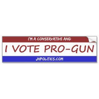 I Vote Pro Gun Bumper Sticker