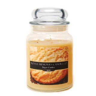 Mostly Memories Sugar Cookie 24 Ounce Lid Lites Soy Candle   Jar Candles