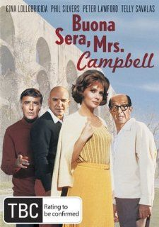 Buona Sera, Mrs. Campbell: Gina Lollobrigida, Lee Grant, Naomi Stevens, Philippe Leroy, Shelley Winters, Phil Silvers, Peter Lawford, Telly Savalas, Janet Margolin, Marian McCargo, Melvin Frank, CategoryArthouse, CategoryClassicFilms, CategoryUSA, Festival