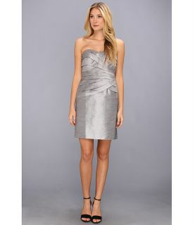 Donna Morgan Marielle Shantung Dress Silver Pearl