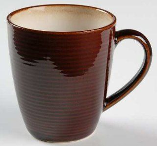 Sango Jetta Brown Mug, Fine China Dinnerware