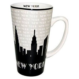 New York Mug   Grey Java 16oz., New York Mugs, New York Souvenirs, NYC Coffee Mugs Kitchen & Dining