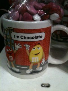 M&M's I Love Chocolate Mug with Candy: Kitchen & Dining