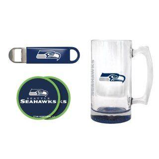 Seattle Seahawks 25oz. Elite Mega Mug, Bottle Opener & Coasters Set  Seahawks Beer Mug Gift Set : Other Products : Everything Else