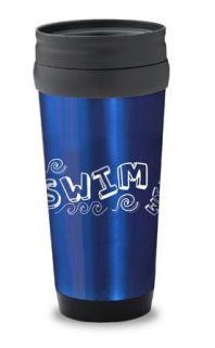 Travel Mug Swim Slate Blue: Clothing