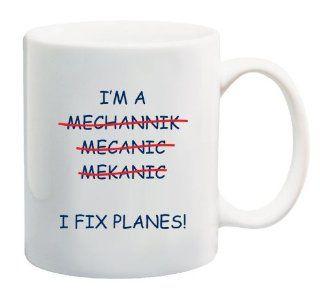 Mechanic of Planes 11 Oz Coffee Mug Funny Mug Aircraft Kitchen & Dining