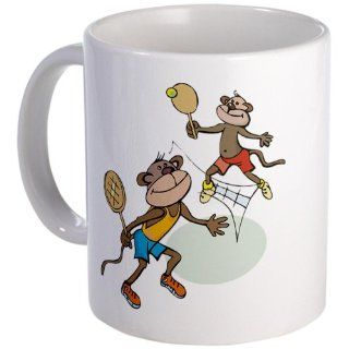 CafePress Monkey Tennis Mug   Standard: Kitchen & Dining