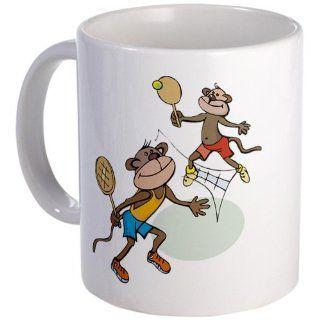 CafePress Monkey Tennis Mug   Standard: Kitchen & Dining