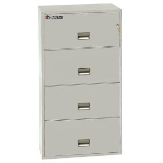 "Sentry�Safe 29.8"" W x 20.5"" D 4 Drawer Fireproof Key Lock Letter File Safe Finish: Lt. Gray : Gun Safes And Cabinets : Sports & Outdoors"