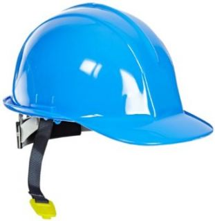 Sellstrom 69540 6 Point Ratchet Suspension Slotted Hard Hat, Blue Hardhats Industrial & Scientific