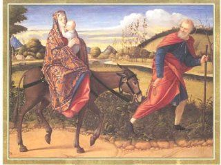 Flight Into Egypt Christmas Card   Greeting Cards