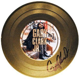 Gary Clark Jr.   American Guitarist   Autographed Souvenir Gold Record Entertainment Collectibles