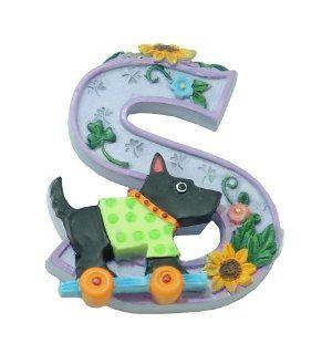 """MARY ENGELBREIT Decorative Alphabet Letter Super Magnet ~ """"S"""" ~ Sunflower ~ Scotty ~ Skateboard ~ Sweater: Kitchen & Dining"""