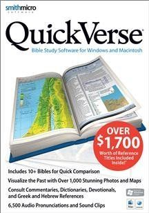 Smith Micro Software Quickverse 10 Bibles 70 Reference Titles Advanced Reading Plans Sm Box   Dvd Player Products