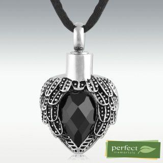 Perfect Memorials Angels Near Heart Stainless Steel Cremation Jewelry (Death Stone)   Decorative Urns