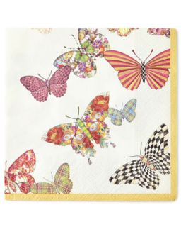 Butterfly Garden Cocktail Napkins   MacKenzie Childs