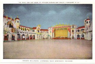 1940s Vintage Postcard   Interior   Aragon Ballroom (Lawrence near Broadway)   Chicago Illinois: Everything Else