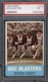 1963 Topps #18 Buc Blasters Roberto Clemente PSA 7 Near Mint at 's Sports Collectibles Store