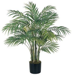 Nearly Natural 5000 Areca Decorative Silk Palm Tree, 3 Feet, Green   Artificial Trees