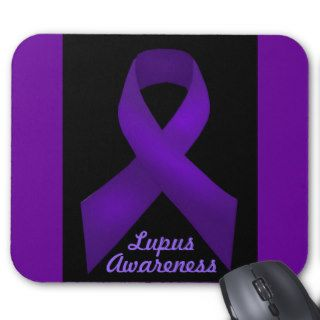 Purple Ribbon Awareness Lupus Mousepad