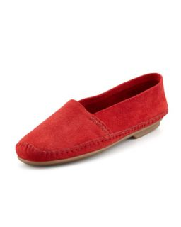 Davies Topstitched Moccasin, Red   Jacques Levine   Red (40.0B/10.0B)