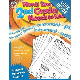 Words Every Second Grader Needs to Know!: Academic Vocabulary Practice (Words Every _ Grader Needs to Know!): Lee Justice: 9780768235524: Books