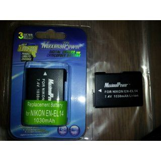 Maximal Power DB NIK ENEL14 Rechargeable Li Ion Battery for Nikon P7000 Digital Cameras : Camera & Photo