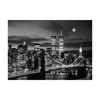 HUGE LAMINATED / ENCAPSULATED New York Twin Towers At Night POSTER measures 36 x 24 inches (91.5 x 61cm)   Prints