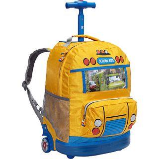 J World New York School Bus Kids Rolling Backpack
