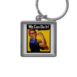 Rosie The Riveter ~ Vintage World War II Key Chains