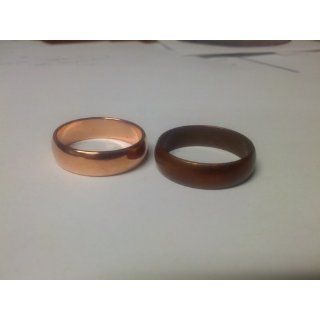 6mm Solid Smooth Copper Wedding Band Ring (Sizes 6 12): West Coast Jewelry: Jewelry
