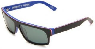 Electric Visual Ninety Nine Rectangle Sunglasses,Matte RWB Frame/Grey Lens,One Size: Clothing