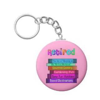 Retirement Gifts Unique Stack of Books Design Key Chain