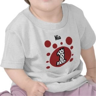 1st Birthday Dots and Bubbles One Year Old V34 Tee Shirt