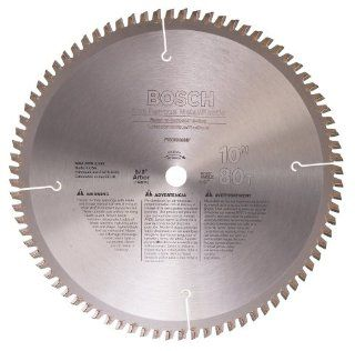 Bosch PRO1080NF 10 Inch 80 Tooth TCG Non Ferrous Metal Cutting Saw Blade with 5/8 Inch Arbor   Miter Saw Blades