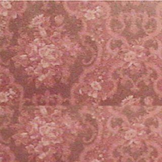 Dollhouse Miniature Burgundy English Rose Wallpaper 2142: Toys & Games