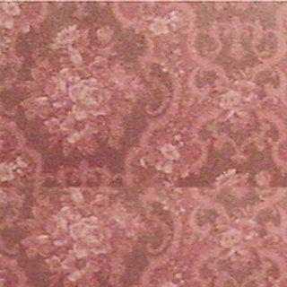 Dollhouse Miniature Burgundy English Rose Wallpaper 2142: Toys & Games