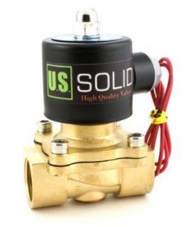 "3/4"" Brass Electric Solenoid Valve 110 VAC Normally Closed water, air, diesel Industrial Solenoid Valves Industrial & Scientific"