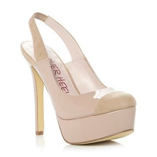 Head Over Heels by Dune Nude diva slingback high platform court shoe
