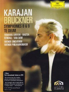 Bruckner: Symphonies Nos. 8 & 9; Te Deum [DVD Video]: Karajan, Bruckner, Tomowa Sintow, Baltsa, Vpo: Movies & TV