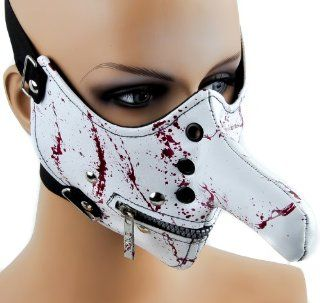 Long Nose Bloody Bondage Mask w/ Zipper Mouth : Other Products : Everything Else