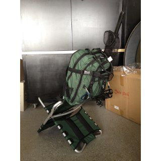 Chair Pak The Incredible Backpack Chair! (lightweight 6.5lbs, very compact, strong) (Dark Green w/ Black Frame) : Camping Chairs : Sports & Outdoors