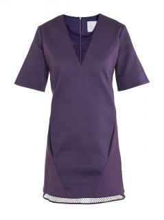 Mesh V neck shift dress  Richard Nicoll
