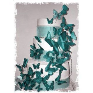 3D Butterfly Wedding Cake Topper Set Multi Sized (36x Butterflies) ANY COLOR: Kitchen & Dining