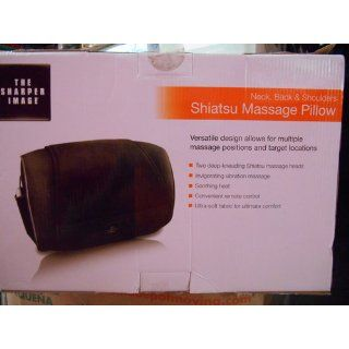 The Sharper Image MSG P110 Neck, Back and Shoulders Shiatsu Massager Pillow, Black: Health & Personal Care