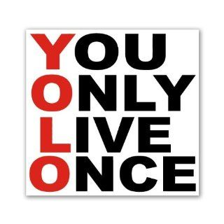 Yolo You Only Live Once Drake the MOTO SQ Car Sticker Decal 5""