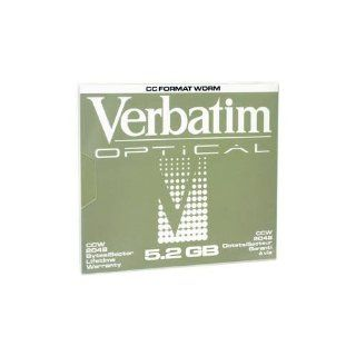 VERBATIM 92847 WORM Optical 5.25 5.2GB Write Once 2048 B/S (8X): Electronics