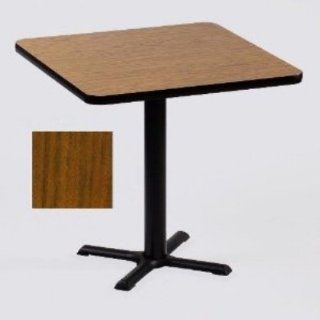 Correll BXT24S 06 24 in Square Bar Cafe Table w/ 1.25 in Pressure Top, 29 in H, Oak/Black, Each: Kitchen & Dining